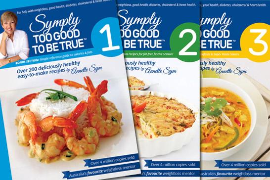 Symply Too Good To Be True cookbooks 1-7