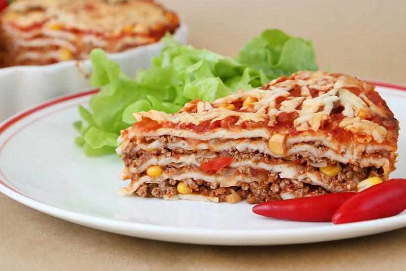 Beef tortilla stack Symply Too Good Cookbook 3