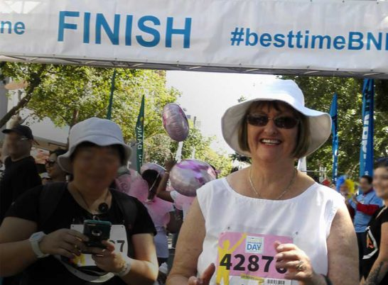 Trish H finishing race
