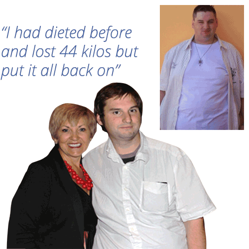 Francis lost 64kg with Symply Too Good