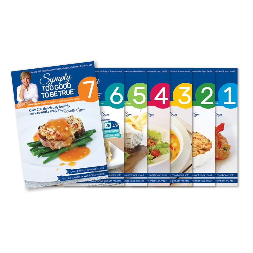 Symply Too Good Cookbooks full set 1-7