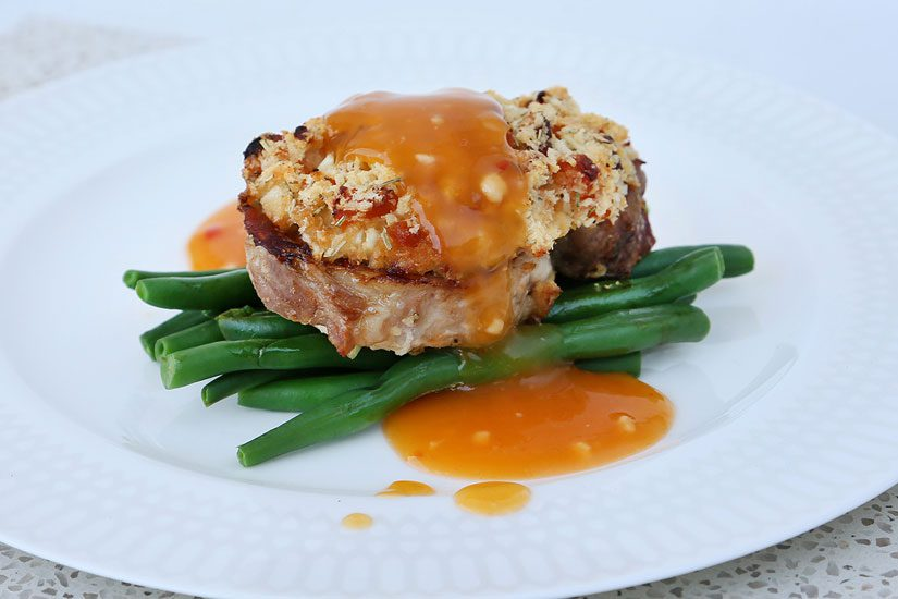 Crusted pork with apricot Symply Too Good cookbook 7