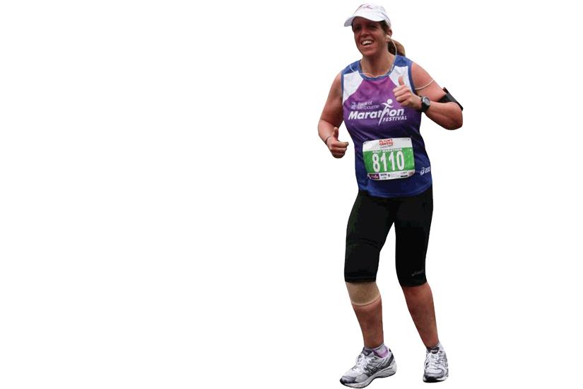 Lyn finishing half marathon