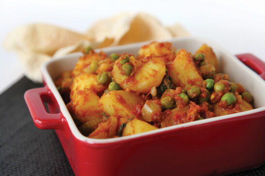 indian potato and peas recipe
